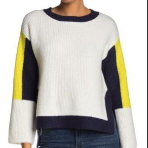 NWT Color block Navy/Yellow Sweater by Ady P SZ L